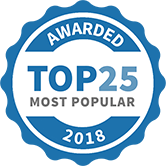 Top 25 Most Popular Beauty and Wellness Services badge for 2018